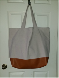 JEA Custom oversize tote with leather bottom